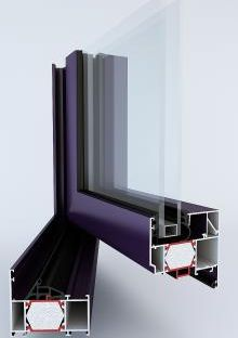 okna aluminiowe cieply tm74